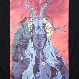 Fantasy Falcon Woman 100% Cotton T-Shirt Shirt